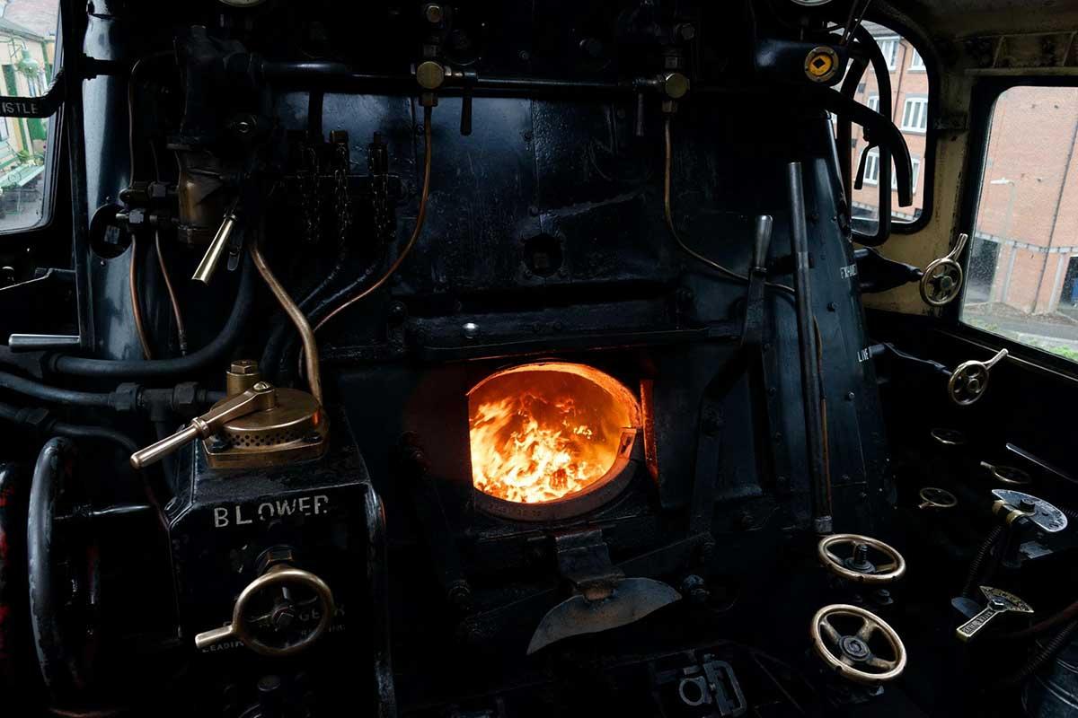 cochran boiler with fire