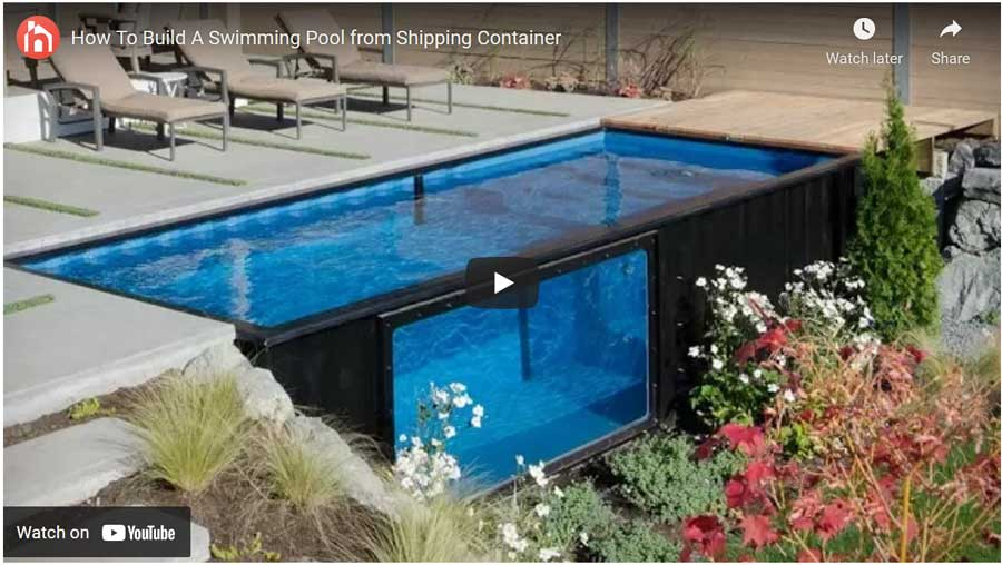how to build a swimming pool using a shipping container video