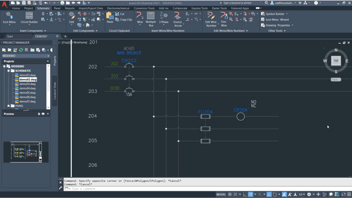 AutoCAD electrical: Placing wire number