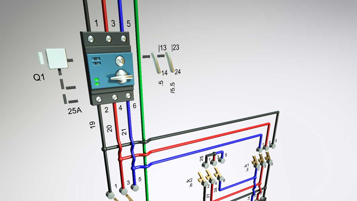 AutoCAD Electrical : 1. Displaying Wire Colour and Gauge Labels