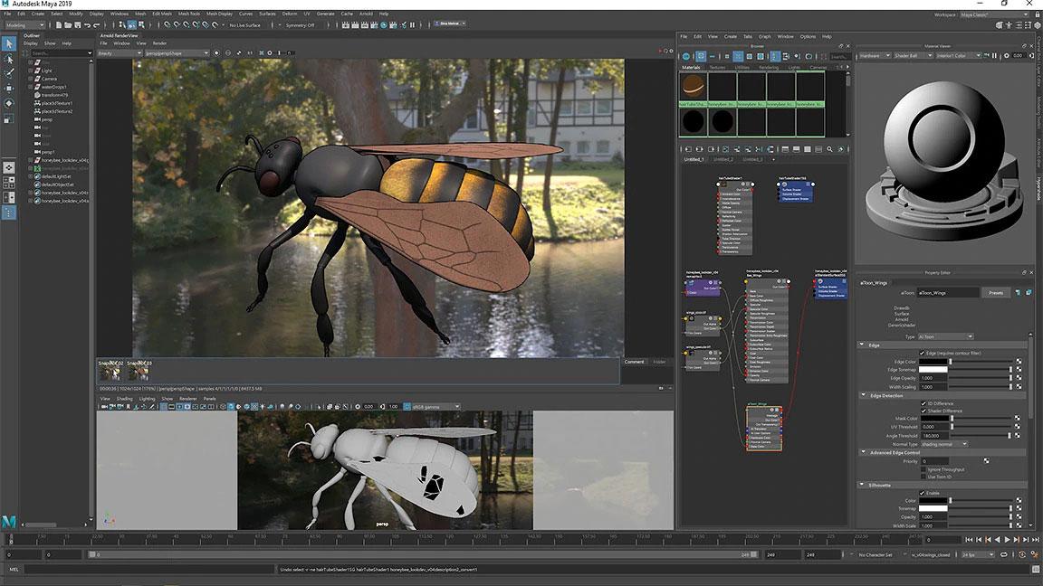 Maya vs Blender: Maya interface screenshot