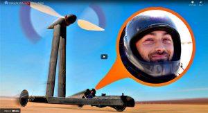 Wind powered vehicle